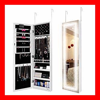 Los mejores armarios joyeros con espejo de pared